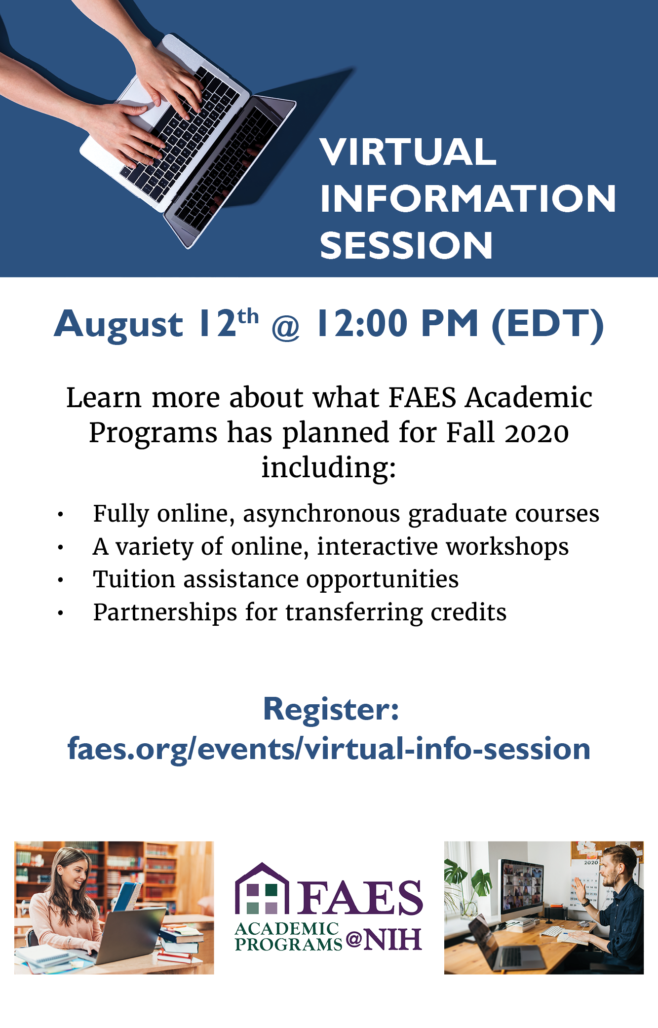 Virtual Information Session Fall 2020